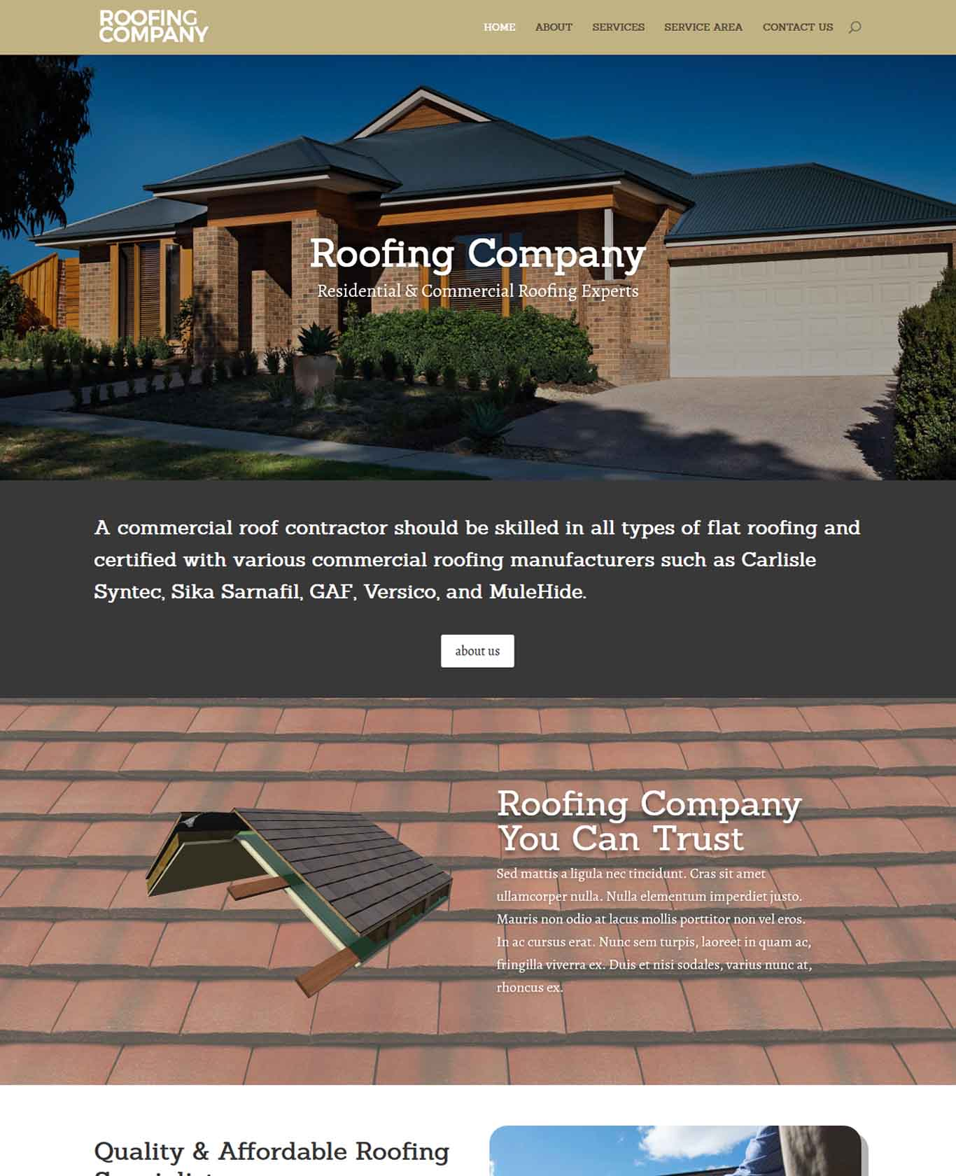 Roofer Website Sample Design 4