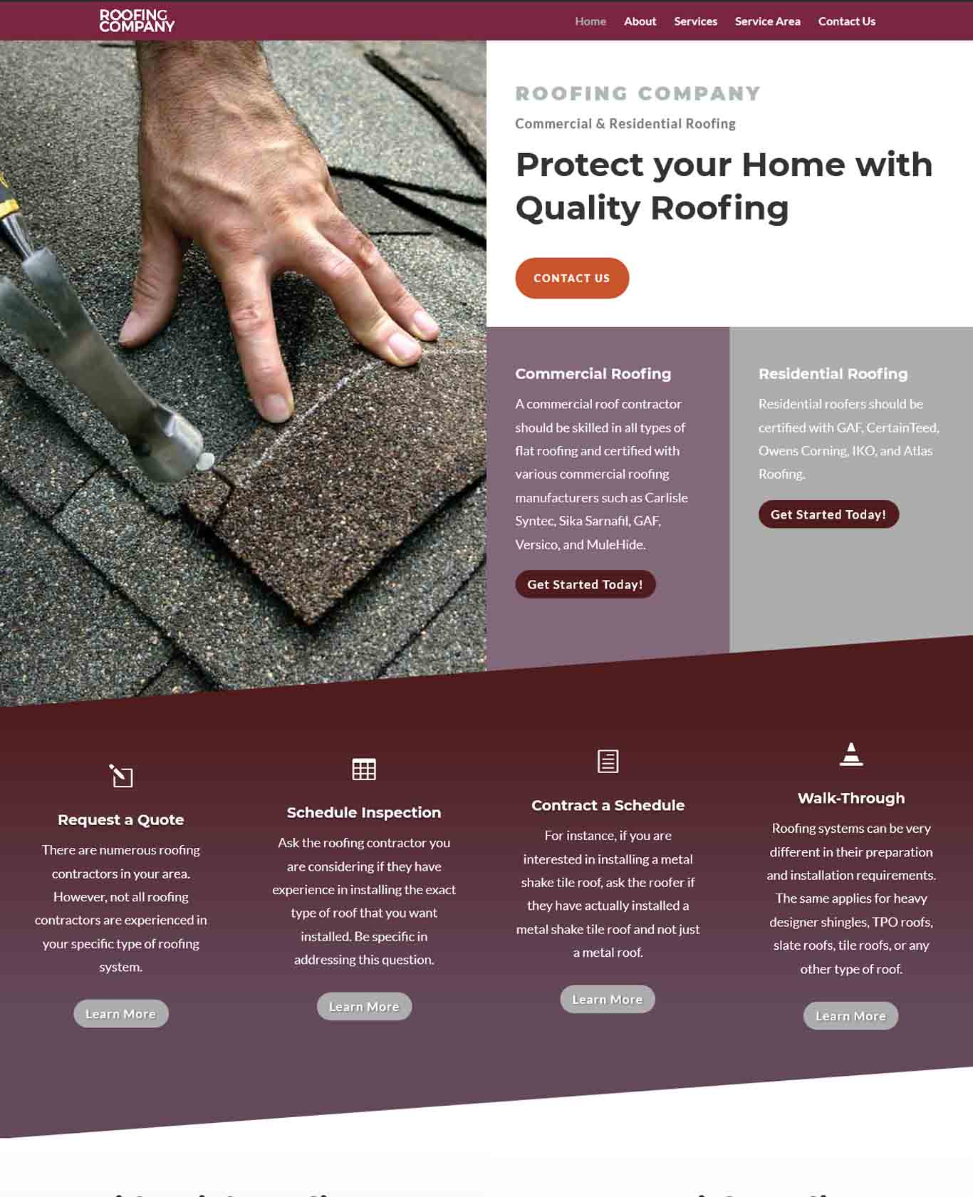 Roofer Website Sample Design 3