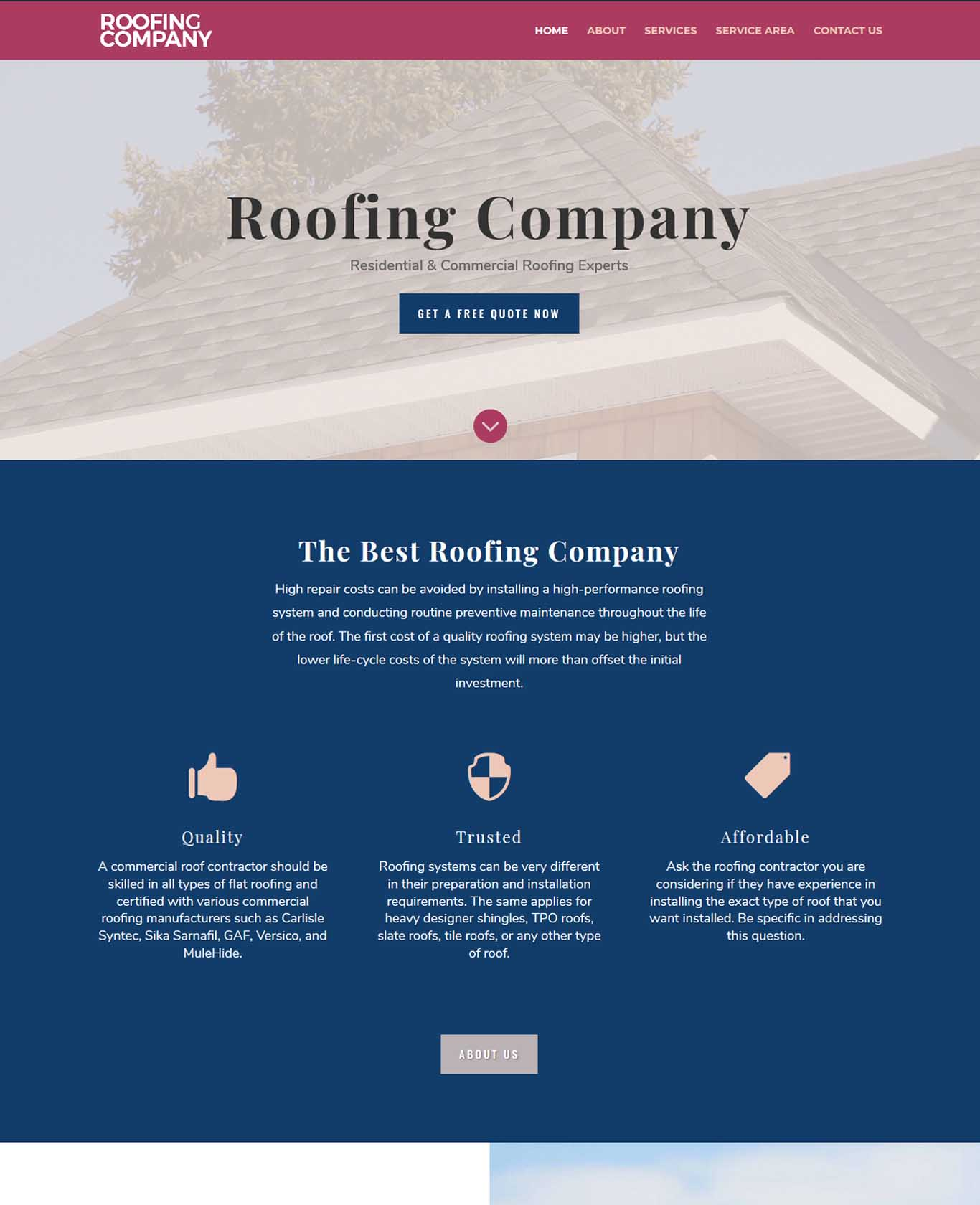 Roofers Website Sample Work 2